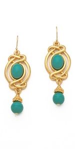 turquoise drop earrings by BEN-AMUN