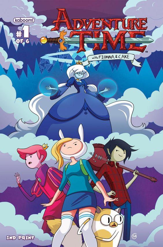 Hora de Aventuras.  Portada de la segunda edición del comic-book de 'Fionna y Cake'.
