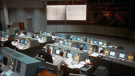 Mission Control during Gemini 7, December 7, 1965