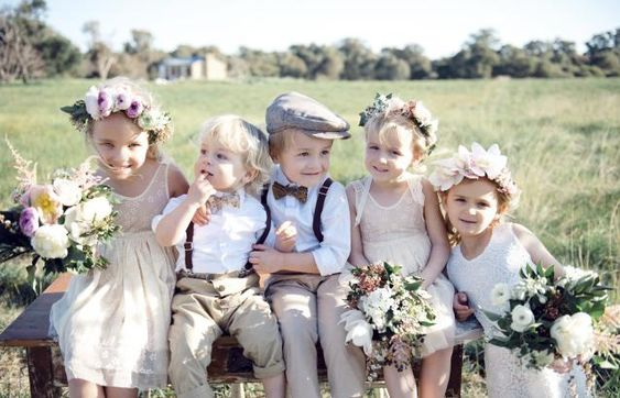 Adorable flower girls and page boys!: