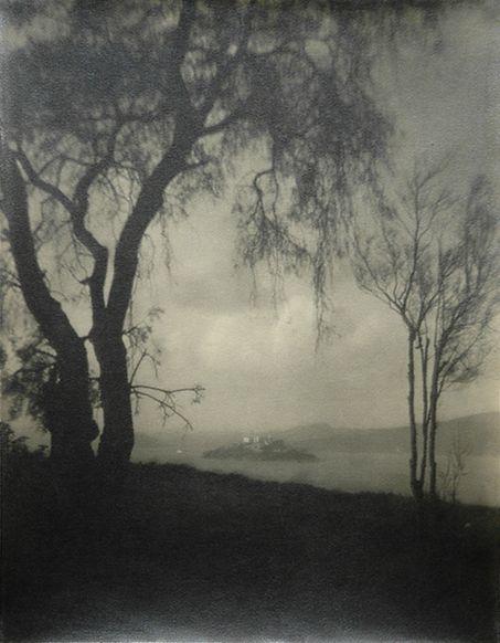 Francis Bruguière - Alcatraz from Telegraph Hill, 1916.