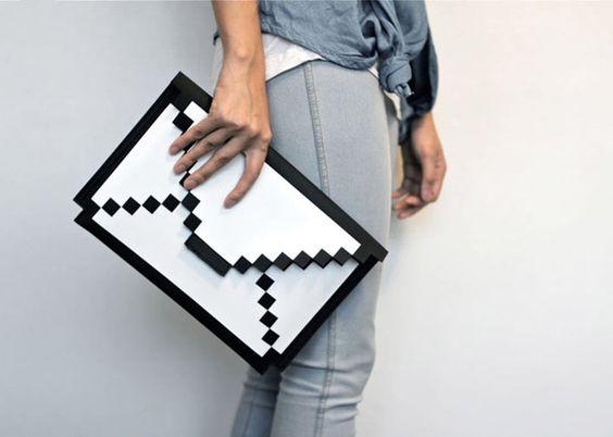 8-bit iPad sleeve. A classic case for modern gadgets.