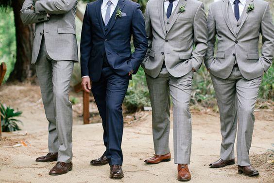grey groomsmen suits - photo by Allie Lindsey Photography http://ruffledblog.com/san-diego-botanic-garden-wedding