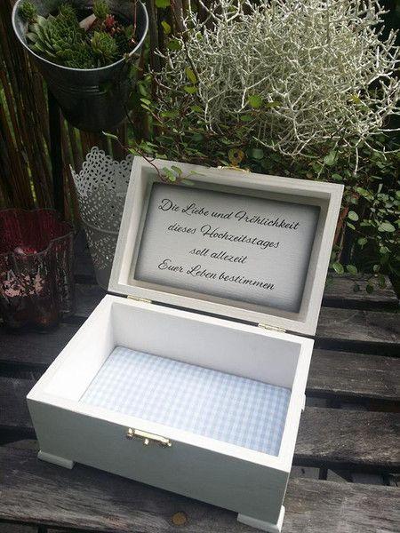 Hochzeit Geschenk Ringtruhe Ringkiste mit Spruch von mein rosa rot  auf DaWanda.com
