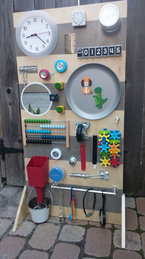 **This board includes gears as shown. If you are interested in a large board without gears, please check out our other large busy board listing: