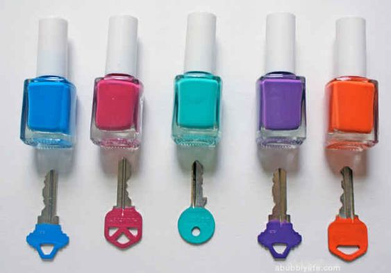 Nail Polish Keys | 50 Clever DIY Ways To Organize Your Entire Life