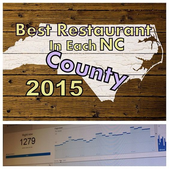 Best Restaurant In Each North Carolina County, 2015 If there is one thing this article will tell you, it's that North Carolinians love BBQ, Seafood, and Farm to Table Restaurants. #MoveToNC #FindNCStyleHomes.com