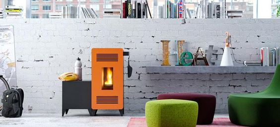 MIA: A Pellet Stove by Sara Ferrari for Olimpia Splendid  http://bit.ly/1CZ6P7w