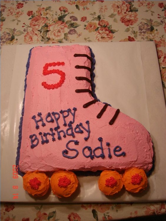 How To Make A Roller Skate Birthday Cake
