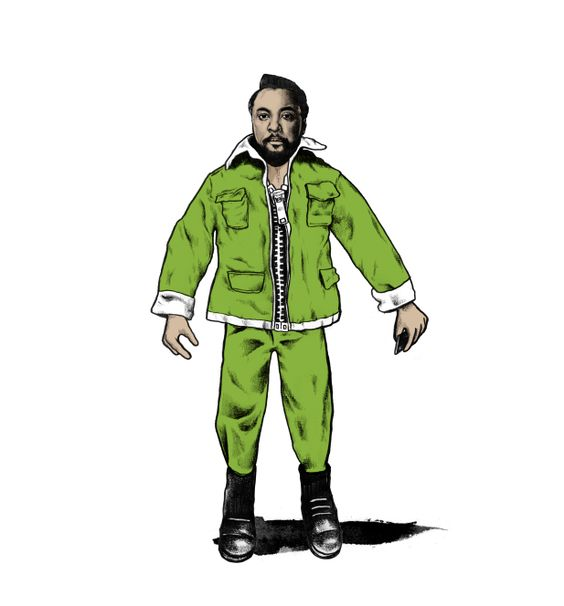 Action Will-I-Am!  Basically I thought Will.I.Am looks like an Action Man of himself so I drew it. #illustration