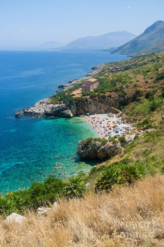 Wild beautiful coast West of Sicily, Italy - Natural Reserve