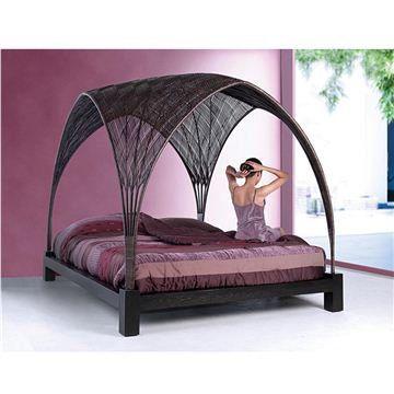 Modern platform bed modern beds and storage beds on pinterest for High end canopy beds