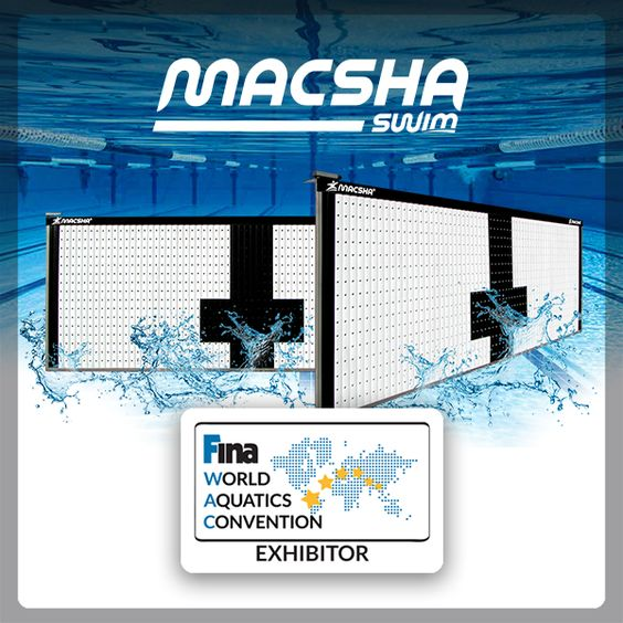 Macsha estará presente en la FINA World Aquatics Convention en diciembre del presente año, presentaremos nuestra nueva tecnología: el Macsha Swim #WeTimeEverything