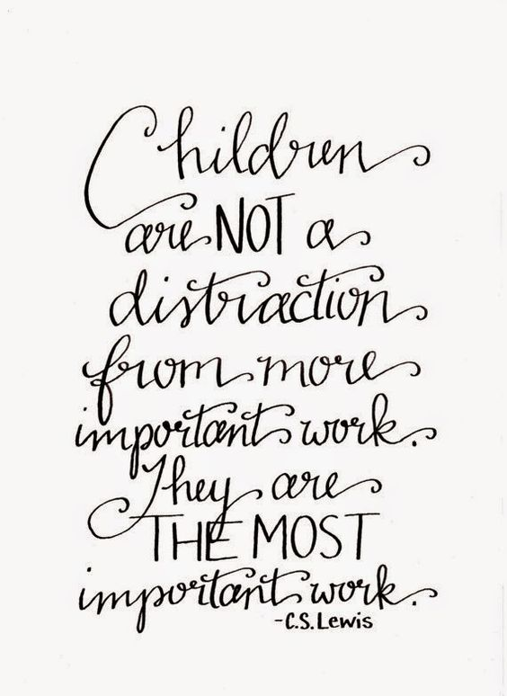 Children are the most important distraction