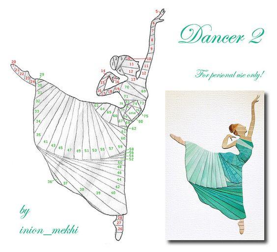 Dancer 2 by piechot, via Flickr - Iris Folding Pattern
