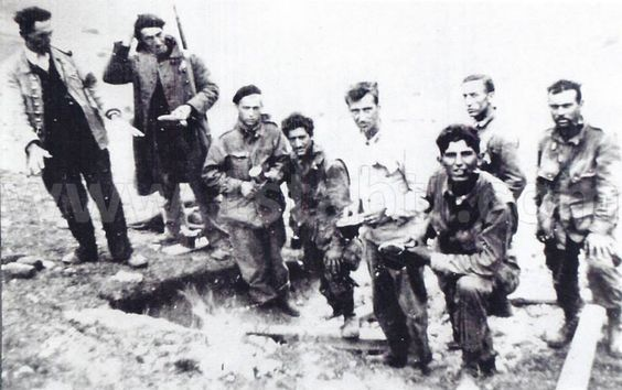 Two local resistance, with James Dunn, Joseph Cicchinelli Sgt. Robert Anderson, Howard Adcock, Doris Myers and William Gibson. Note haircuts, after so many days spent on the front line.  Resistance was a great help to men of the 1st Airborne Task Force, during the fighting in the Var and Alpes-Maritimes. They served as their guide, brought them little food they had, and even participated in some skirmishes.