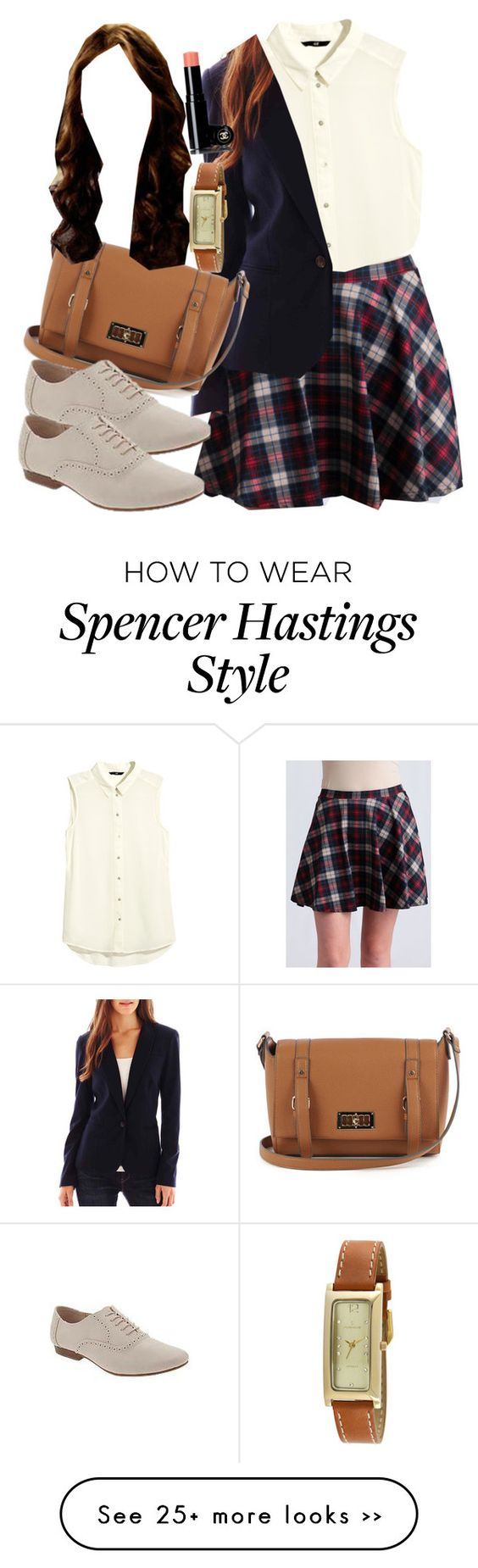 """""""Spencer Hastings inspired outfit with requested skirt"""" by liarsstyle on Polyvore"""