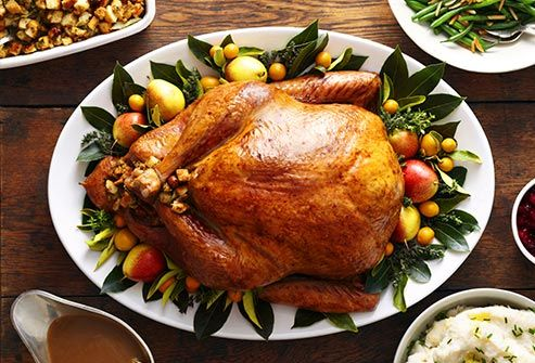 The traditional Thanksgiving bird has the protein building-block tryptophan, which your body uses to make serotonin. That's a brain chemical that plays a key role in depression, researchers say. In fact, some antidepressant drugs work by targeting the way your brain uses serotonin. You can get the same mood-boosting effect from chicken and soybeans.