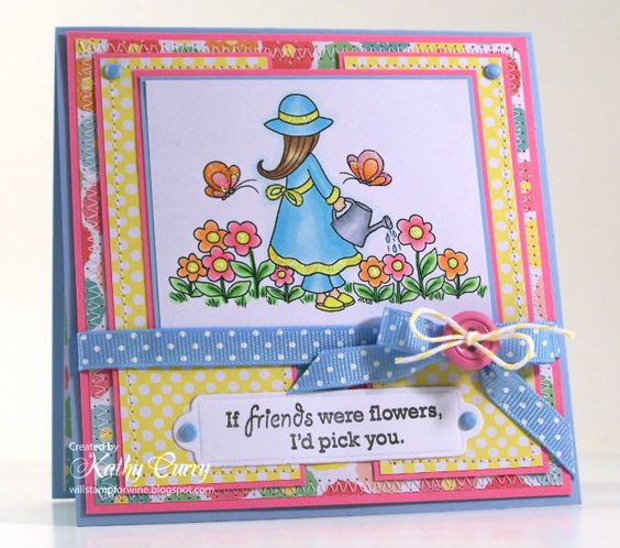 Card by Kathy Curry for Whimsy and Stars Studio digital stamps