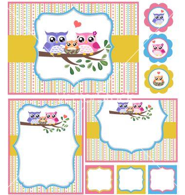 Baby shower bird card set vector 982937 by paul_june