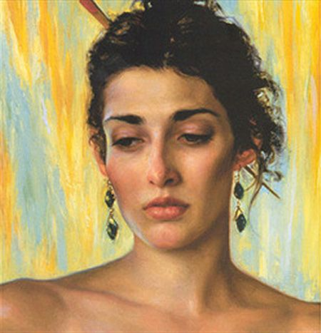 Realist painter Kamille Corry was born in 1966 in Houston, Texas.: