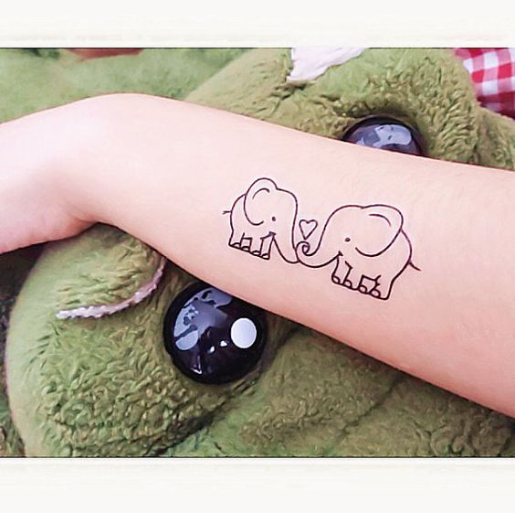 1 set of elephant temporary tattoo fake tattoo by for Temporary elephant tattoo