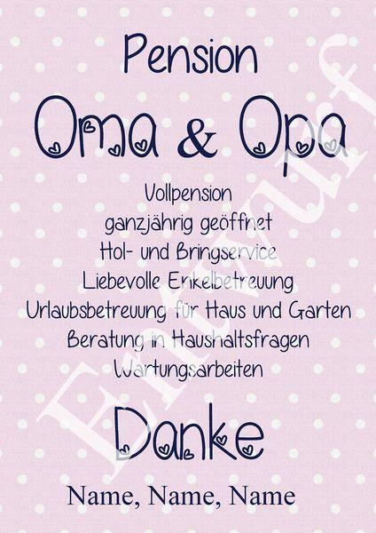 Pension Oma und Opa von Brittis-Kreativ-Welt auf DaWanda.com