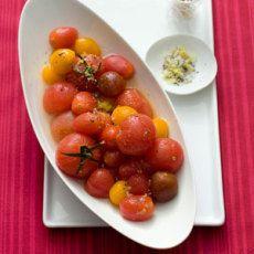 Vodka-Spiked Tomatoes with Lemon Salt