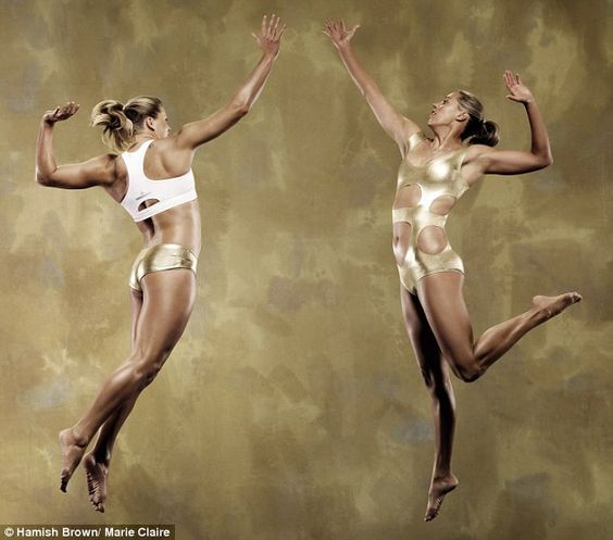 Going for gold! Britain's Beach Volleyball babes show off their skills and share their super fit tips in fashion mag shoot
