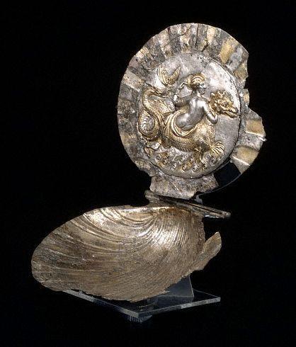 Roman Mirror with Sea Monster Design: