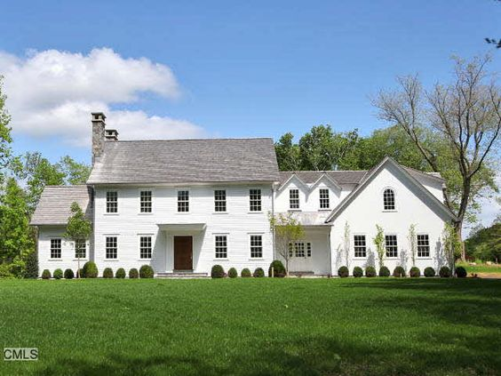 New england saltbox colonial exteriors pinterest for Modern colonial home exterior