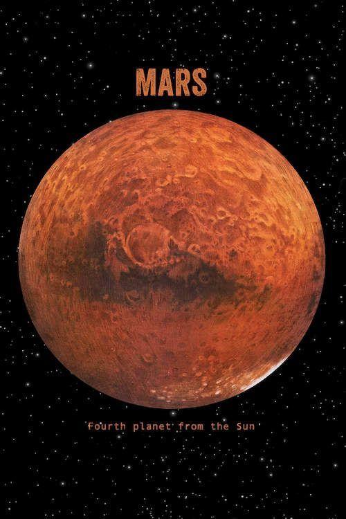 Mars Canvas Print #space #astronomy #imagine