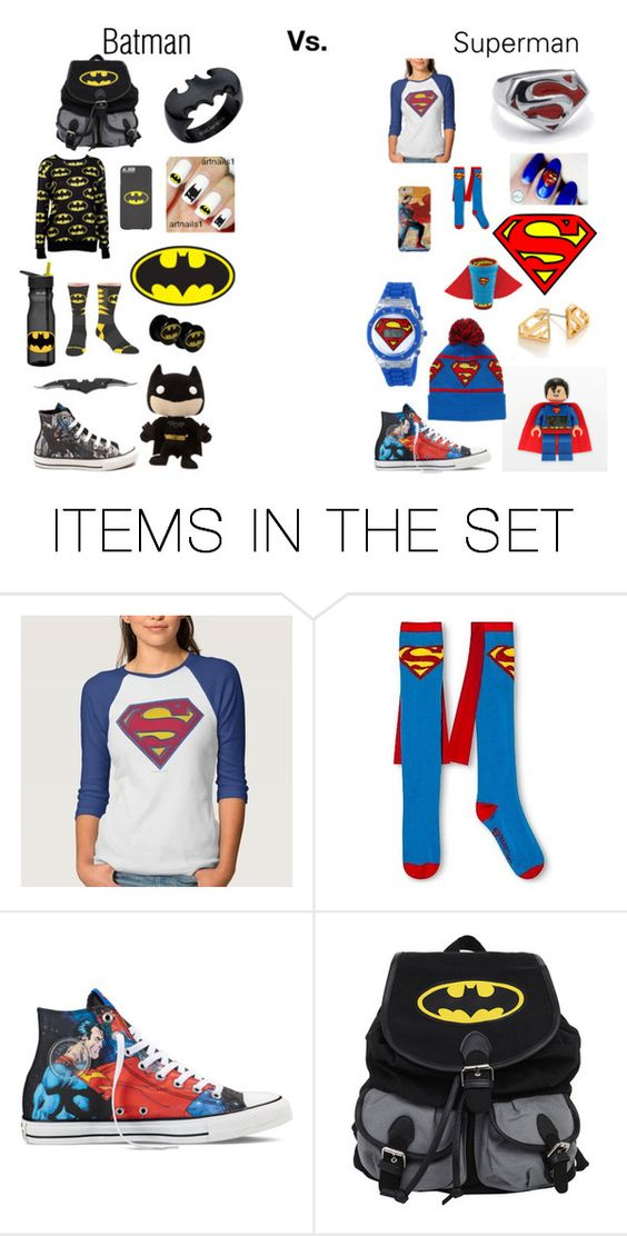 """BATMAN VS SUPERMAN!"" by thompame on Polyvore featuring art"