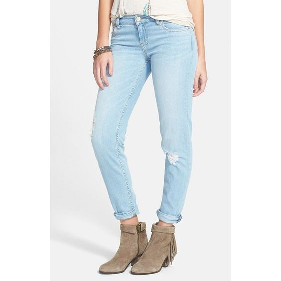 Junior STS Blue 'Joey' Boyfriend Jeans ($54) ❤ liked on Polyvore
