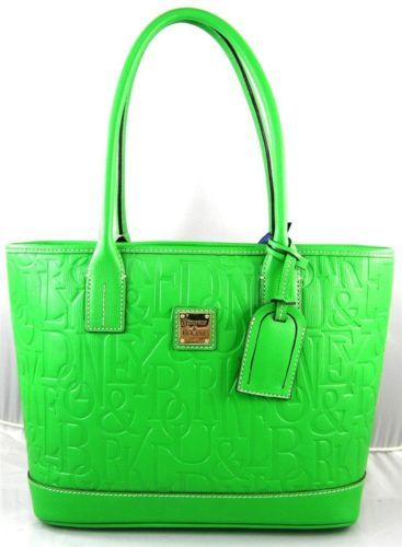 AUTHENTIC NEW NWT DOONEY & BOURKE $298 LEATHER RUSSEL GREEN BAG TOTE PURSE