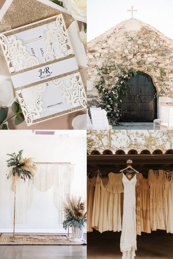 Gold and Ivory wedding themes