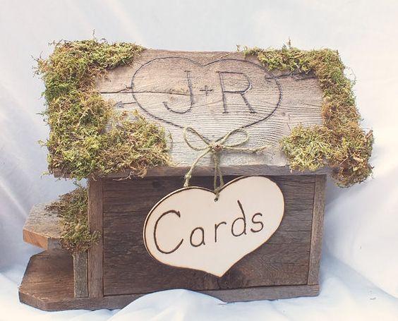 Rustic Wedding Gift Card Holder : Card BoxGift Card Box- Wedding Card HolderRustic Wedding ...