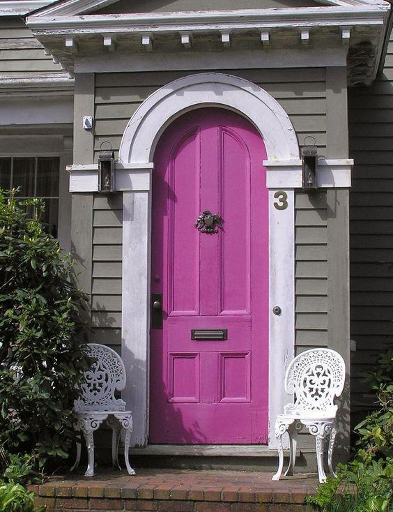 portas coloridas ...