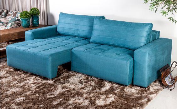 Sofa azul turquesa pesquisa google decora o e - Sofa azul turquesa ...