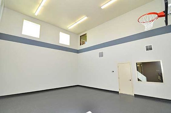 Plan 73333hs sports court and hobby room traditional for Personal basketball court
