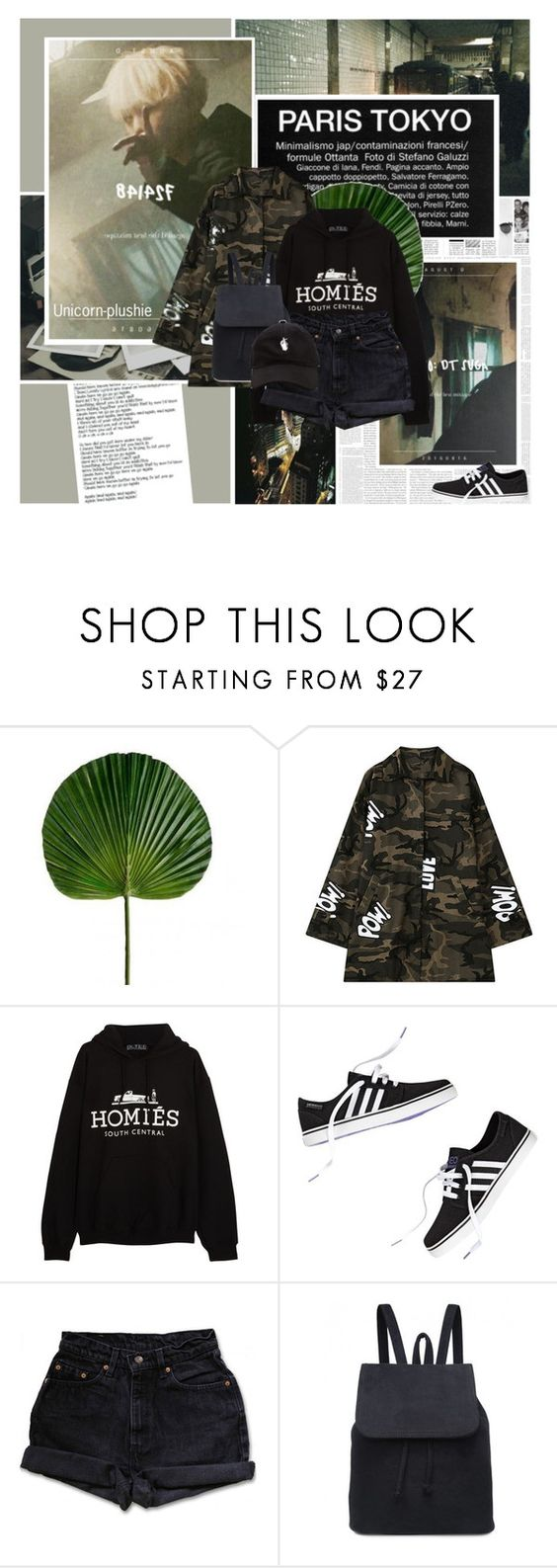 """""""428: A To The G To The U To The STD"""" by unicorn-plushie ❤ liked on Polyvore featuring Again, Polaroid, Chicnova Fashion, Brian Lichtenberg and Levi's"""