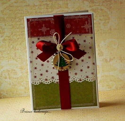 scrapbooking - kartki okolicznościowe-Kartka świąteczna