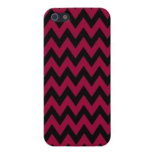 Mediumvioletred Chevron Zigzag Case For iPhone 5