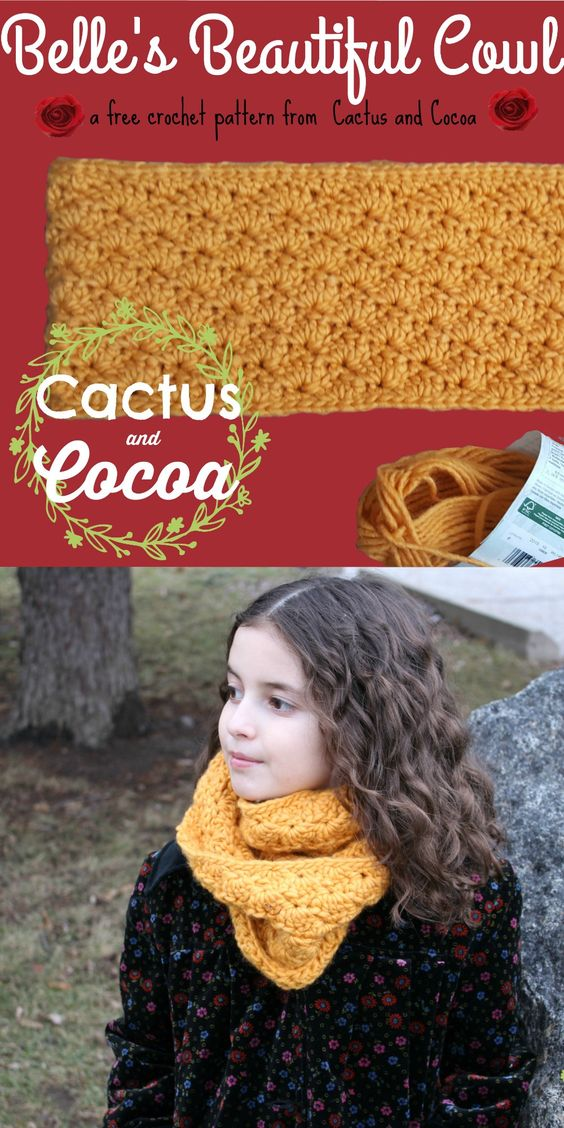 FREE crochet pattern from Cactusandcocoa.com!