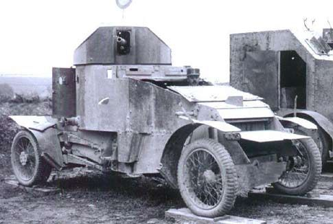 Lanchester Armoured Car on the scrap heap, c1935.