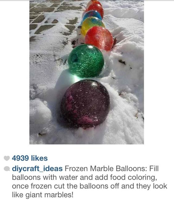 Water balloons frozen water balloons and frozen water on for Fun things to do with water balloons