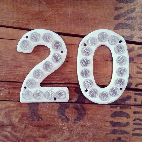 Metal Highway Sign // Number 20 // Twenty // by fredandlulu