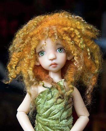 TUTORIAL: Make a tiny mohair wig: