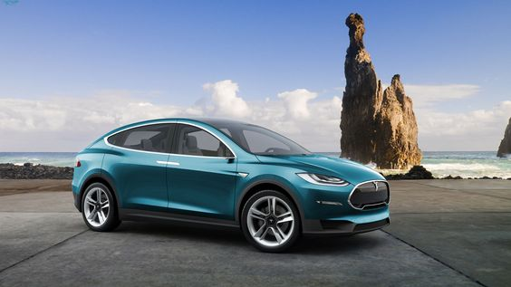 Is this what the Tesla Model X would look like, parked at the beach. It is primed to become the hottest selling electric SUV out there. Due 2017 - 2018