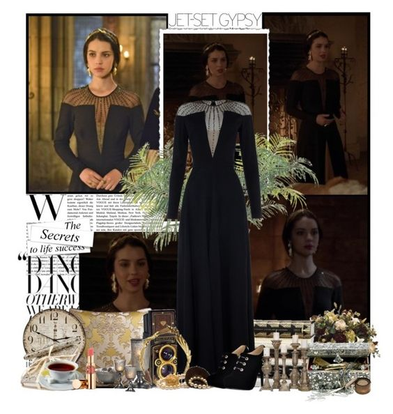 """Mary Stuart"" by elenadobrev90 ❤ liked on Polyvore featuring Kane, Matthew Williamson, F, Temperley London, Jennifer Behr, Monsoon, Couture Lamps and Yves Saint Laurent"